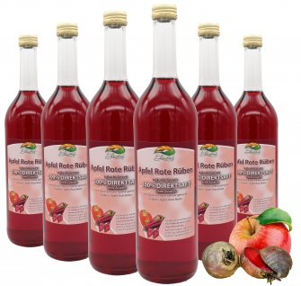 Bleichhof Apfelsaft mit Rote-Rüben Saft-100% Direktsaft, OHNE Zuckerzusatz (6x 0, 72l)
