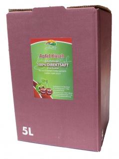 Apfelkirschsaft vom Bleichhof, 100%Direktsaft ohne Zusätze, Bag-in-Box Verpackung (1x5L Saftbox) vegan - Vorschau 1