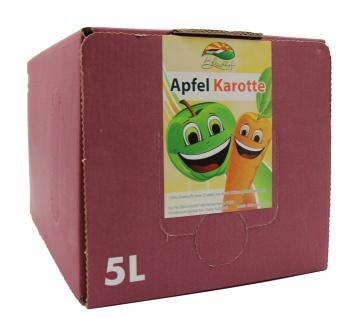 Apfel-Karotten-Saft Bleichhof, 100% Direktsaft ohne Zusätze - Bag-in-Box Verpackung (5L Saftbox) vegan - Vorschau 2