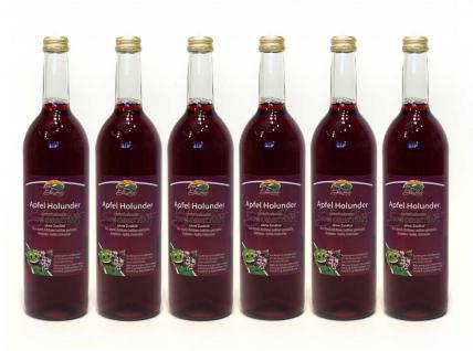 Apfel-Holunder-Direktsaft vom Bleichhof (6x 0, 72L) vegan - Vorschau 1