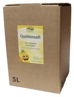 Quittensaft vom Bleichhof, 100% Direktsaft ohne Zusätze, Bag-in-Box Verpackung (5L Saftbox)