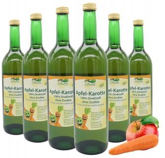 Bleichhof Apfelsaft mit Karottensaft - 100% Direktsaft, OHNE Zuckerzusatz (6x 0, 72l)