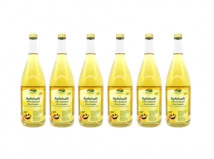 Bleichhof Apfelsaft klar - 100% Direktsaft, vegan, OHNE Zuckerzusatz (6x 0, 95l)