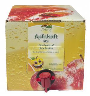 Apfelsaft klar vom Bleichhof, 100% Direktsaft ohne Zusätze, Bag-in-Box Zapfsystem (5L Saftbox) vegan - Vorschau 2