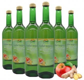 Bleichhof Apfelsaft mit Ingwersaft - 100% Direktsaft, OHNE Zusätze (6x 0, 72l)
