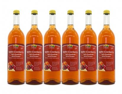 Apfel-Cranberry-Saft vom Bleichhof (6x 0, 72L) vegan
