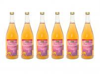 Pink Kiss vom Bleichhof - Apfelsaft mit 10% Weirouge (rotfleischiger Apfel) - (6x 0, 95 L) vegan