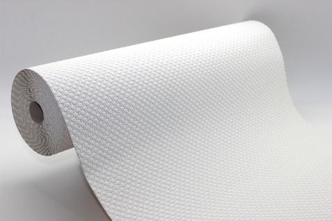 Uni Struktur Tapete 15 m Rolle weiß Glasfaser Struktur 2729-11
