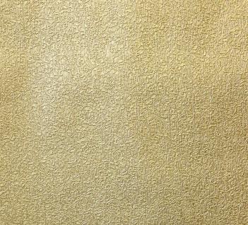 Vlies Tapete gold uni Struktur Hochwertige Qualität 1004-3 metallic - Vorschau 4