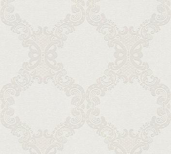 Vlies Tapete Barock Ornament creme beige hellgrau 36090-5 Elegance - 5th Avenue