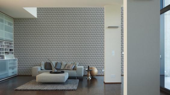 Vliestapete Uni Struktur Einfarbig grau Design by Mac Stopa 32728-4 - Vorschau 4