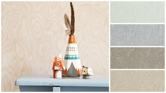 Vlies Tapete elegante Holz Optik weiß grau beige taupe braun Essentials wood