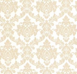 Vliestapete Neobarock Ornament weiß gold Glitzer metallic glitter 13701-50 - Vorschau 1