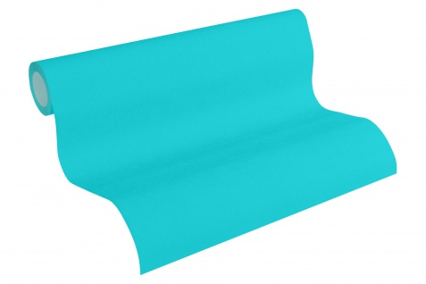 Vliestapete Uni Struktur blau türkis 3465-13 Pop Colors