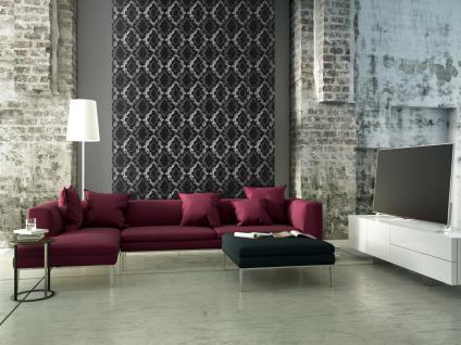 Vliestapete Barock Ornament Glitzer schwarz weiß grau 32989-5 Memory 3