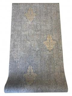 Vlies Tapete Barock Ornament Muster grau gold kupfer metallic 651-04 Stylish