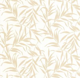 Vliestapete Blätter Floral weiß gold Glitzer metallic glitter 13703-50