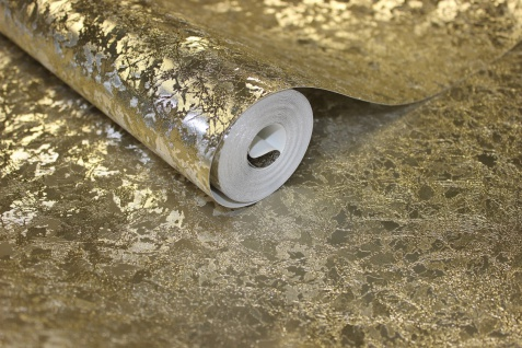 Blattgold Samt Muster Optik Tapete champagner gold metallic glanz Velvet Crush - Vorschau 3