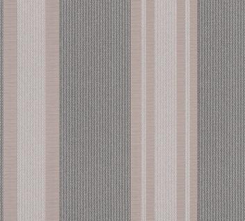 Streifen Vinyl Tapete braun grau taupe metallic Kingston 327543