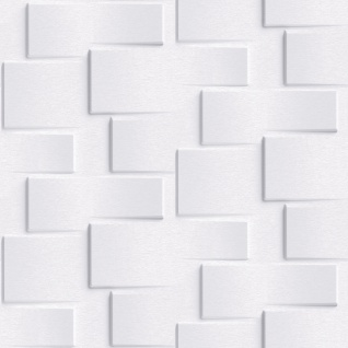 Vliestapete moderne 3D Steinwand hell grau Stein Optik Grafisch Brick EP3301