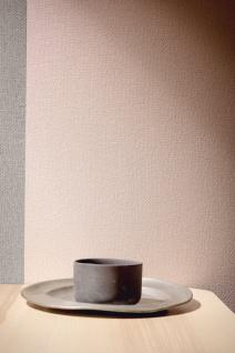 Vliestapete Uni Textil Optik Struktur dunkel grau 30487-5 Elegance - 5th Avenue - Vorschau 3