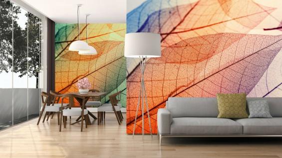 Fototapete Digitaldruck große klare Blätter orange 255 x 350 cm DD118586
