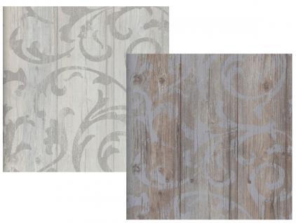 Vlies tapete antik holz rustikal ornament muster barock grau beige braun grau kaufen bei - Tapete rustikal ...