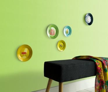 Vlies Tapete moderne Uni Struktur lemon grün einfarbig feine Linien 13082-07
