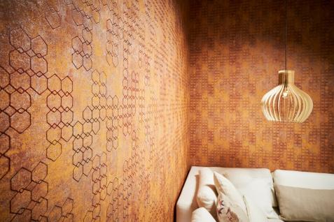 Vliestapete Beton Stein Optik grafisches Muster rost kupfer metallic 37424-3