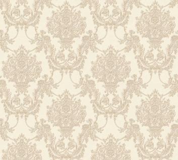 Vlies Tapete Barock Ornament creme beige glanz metallic 34492-1 Chateau 5