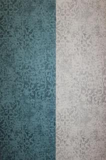 Krakelee Struktur Vliestapete petrol blau Ornamente Craquelé Toscana 642-05 - Vorschau 4