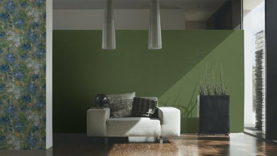 Vliestapete Uni Struktur Textil Leinen Optik grün 36777-3 / 367773