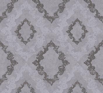 Vliestapete Barock Ornament Glitzer grau anthrazit 32989-4 Memory 3