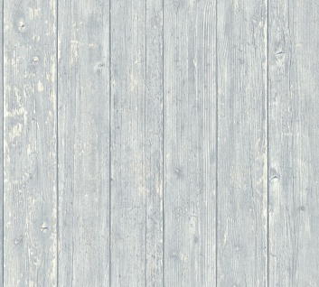 Vlies Tapete Antik Holz rustikal hell blau grau bretter verwittert shabby