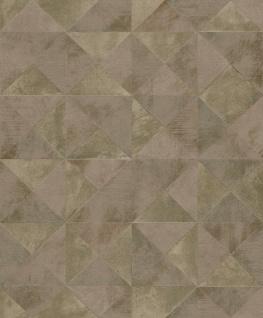 Geometrisches Dreieck Muster Vliestapete champagner braun gold metallic GT3002
