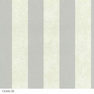 Luxus Vliestapete Streifen creme grau Glitzer marmoriert 13346-30 gestreift
