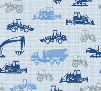 Esprit Kids 5 Vliestapete Baustelle Lkw Traktor Bagger blau 35706-4 / 357064