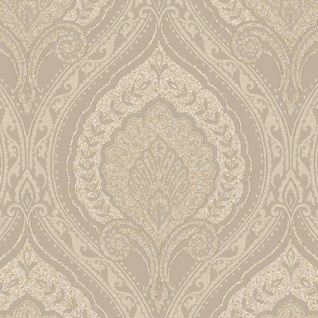 Vlies Tapete Klassisches Barock Ornament beige gold metallic JC3009-3