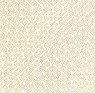 Vliestapete Fächer Motiv weiß gold Glitzer metallic glitter 13707-30