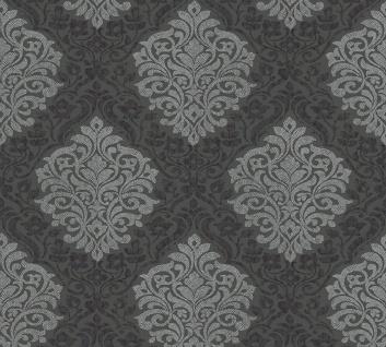 Vliestapete Barock Ornament schwarz grau glanz Architects Paper Alpha 32480-4