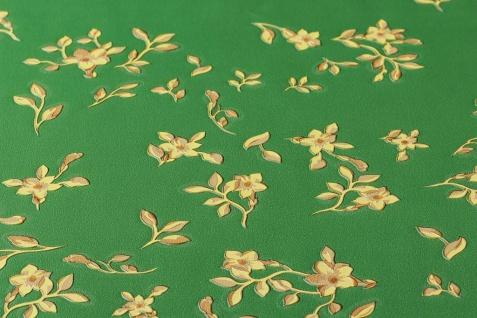 Versace 4 Vlies Tapete kleine Blumen Floral grün gelb gold metallic 935856