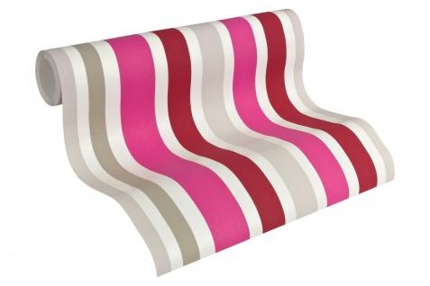 Esprit Kids 5 Streifen Vliestapete grau pink rot weiß 30288-2 - Vorschau 2