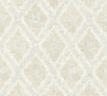 Vlies Tapete Ethno Rauten Muster Textil Optik grau beige California 36376-4