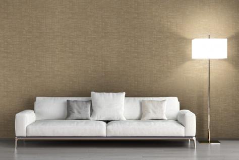 Vlies Tapete Uni Struktur gold beige metallic effekt Titanium REVIVAL