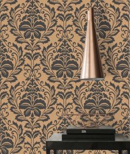 Vlies Tapete Barock Ornament schwarz gold bronze metallic 36910-4