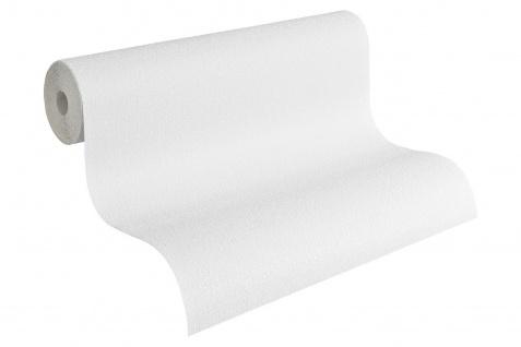 Uni Gewebe Putz Struktur Tapete 15 m Rolle weiß textile Optik 2723-55