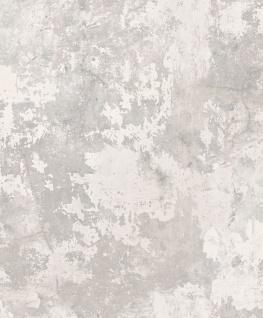 Vlies Tapete Beton Optik verwittert hell grau Industrial Stein Wand used look