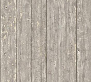 Vlies Tapete Antik Holz rustikal braun grau beige bretter verwittert shabby