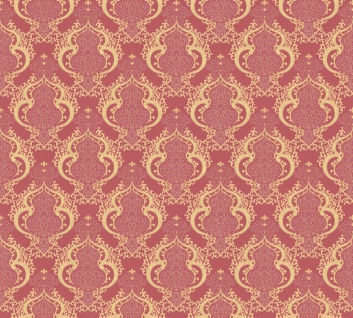 Vliestapete Barock Ornament rot gold metallic Großrolle 10, 05 x 1, 06 m 36453-1