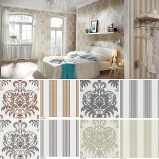 Vlies Tapete Barock Muster Ornament Glitzer Best of Dieter Bohlen Streifen / Uni